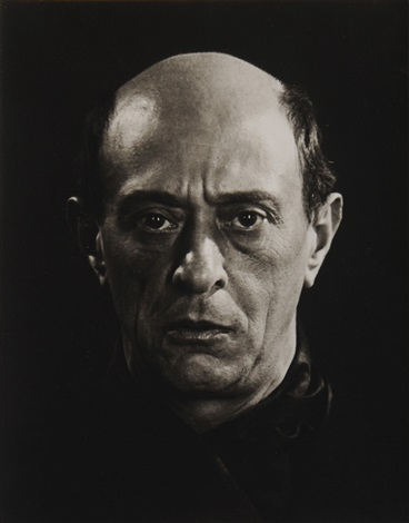 portrait of schoenberg by man ray