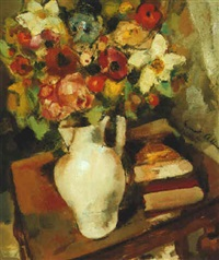 still life with flowers by ernest albert