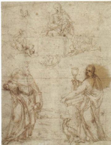 die madonna erscheint dem heiligen johannes evangelist und einem weiteren heiligen by filippo filippino lippi