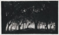 study for mid-summer's night forest by robert longo