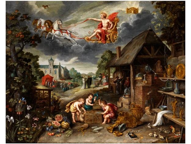 allegorie des geistlichen und weltlichen reichtums by jan brueghel the younger