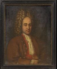portrait of a gentleman holding a gold box by pierre mignard the elder