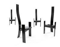 golem sei sedie con struttura by vico magistretti