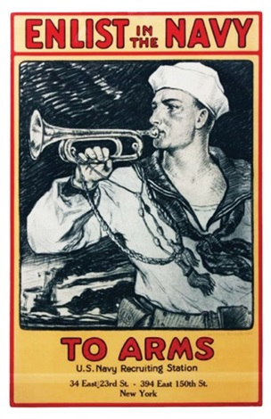 Enlist In The Navy To Arms U S Navy Recruiting Station New York By Milton Herbert Bancroft On Artnet