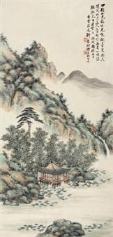 荷塘消夏图 (landscape) by deng chunshu