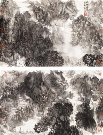 landscape another 2 works by zhuo hejun