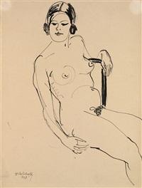 female nude by vladimir alekseevich milashevsky