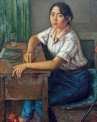 校园里的鲜族女孩 by chen shuzhong