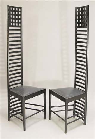2 hillhouse chairs 1 mod 292 set of 2 by charles rennie mackintosh