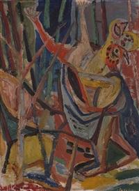 trollet (1), skisse til arbeide i oslo rådhus by aage storstein