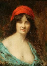portrait of a gypsy by angelo asti
