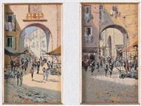 scene di vita napoletane (pair) by fernando del basso