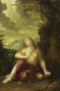 die heilige magdalena, sich geiselnd by josef abel