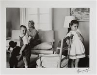 grace kelly with her children caroline and albert by luc fournol