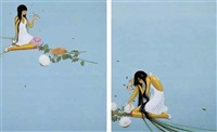 secret flower garden i (+ secret flower garden ii; 2 works) by fuco ueda