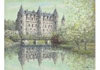 castle in the waterside by ryusuke nishimura