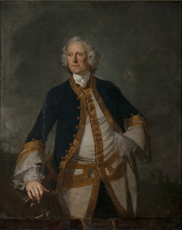portrait of a british naval officer by richard wilson