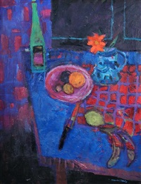 still life on trapezian table by william selby
