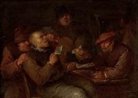interior con personajes en taberna by matheus van helmont