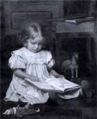 girl reading by emil brack
