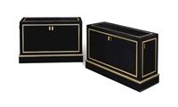 low side cabinets (pair) by robert and roger thibier
