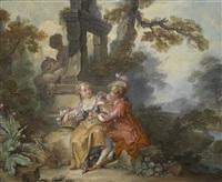 galante szene mit einer schäferin und einem edelmann by luigi domenico soldini