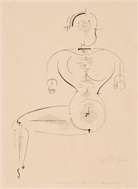 figur h 2 (figur von der seite) by oskar schlemmer