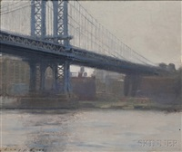 manhattan bridge by tom loepp