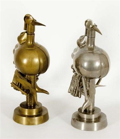 oiseau de feu & oiseau de fer (2 works) by wifredo lam