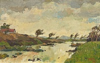 along the liesbeek river, cape by gregoire johannes boonzaier