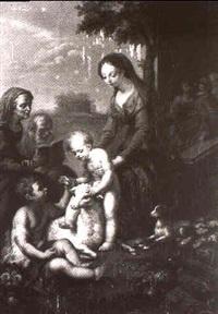 die madonna mit dem kind, dem johannesknaben , der hl. anna und joachim by johann nepomuk de lacroce
