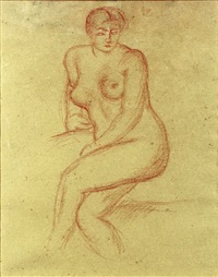 nu assis by aristide maillol