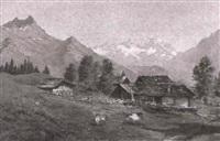 sommerliche berglandschaft by g. heer