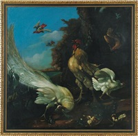 menagerie scene with fowl by marmaduke cradock