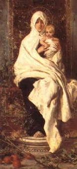 studio per la madonna della primavera by nicolo barabino