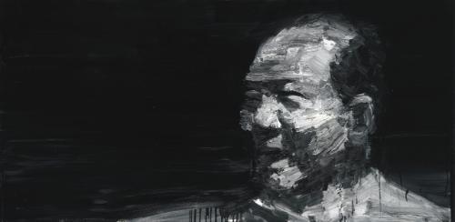 portrait de mao by yan pei ming