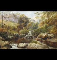 on the cynfael, festiniog, north wales by william henry mander
