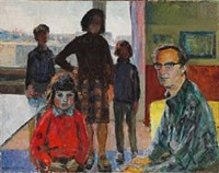 self-portrait with the family by victor brockdorff