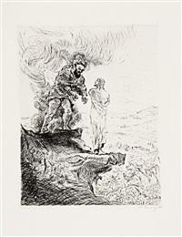 eine passion (portfolio of 13 w/title, colophon & index) by max slevogt