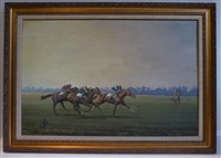 race horse training at dong hill by neil cawthorne
