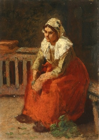 seated peasant woman by charles a danton