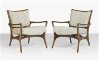 armchairs (pair) by vladimir kagan