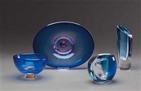 vasen, schale, schüssel (4 works) by goran warff