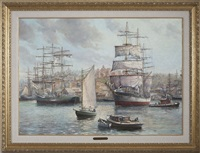 tall ships of halifax by murray yorke