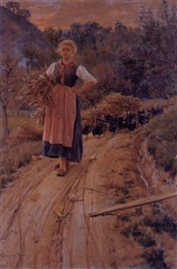the wood carrier with turkeys by giuseppe vizzotto alberti