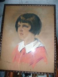 portrait de jeune fille by han van meegeren