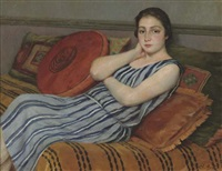 jeune fille au repos by charles-jean agard
