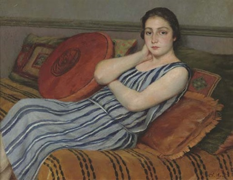 jeune fille au repos by charles jean agard
