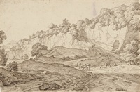 view of le balze di volterra by jacob esselens