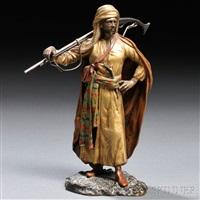 figure of an arab by franz bergman